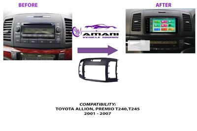 Fascia panel for Toyota Allion t240, t245 or Premio 2001-2007.
