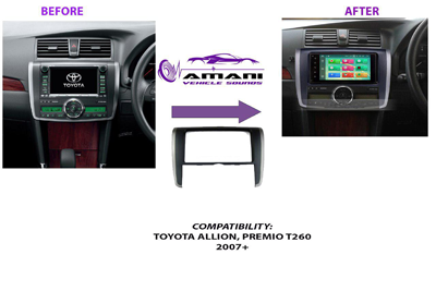 Double din stereo console for Toyota Premio T260 Allion 2007 to 2010