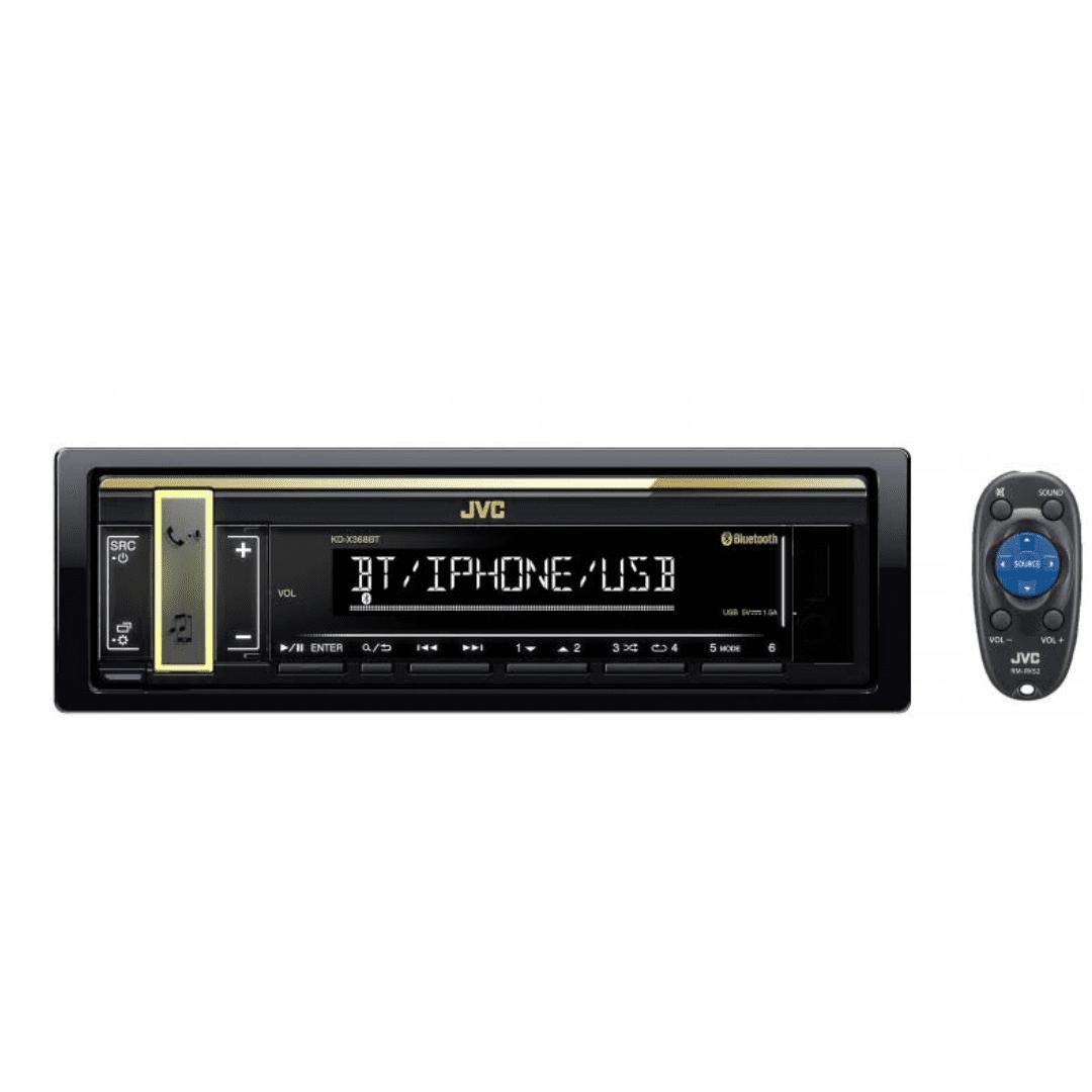 Jvc One Din FM Bluetooth Receiver KD-X368BT Car Radio